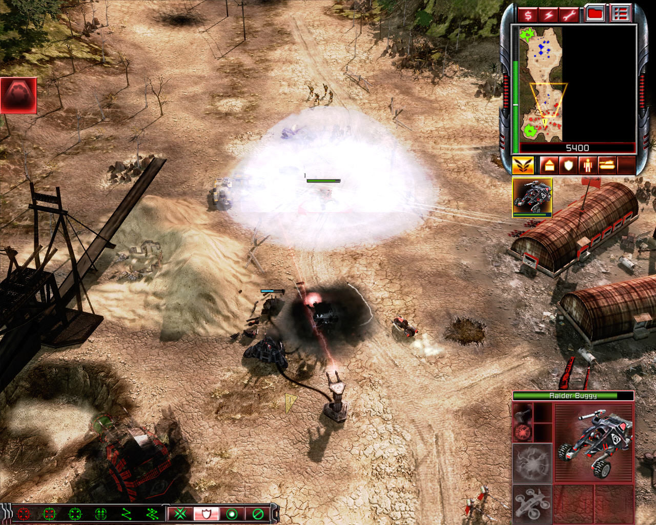 Command & Conquer 3: Tiberium Wars Windows The EMP Coil upgrade allows the Raider Buggy to disable any mechanical unit.