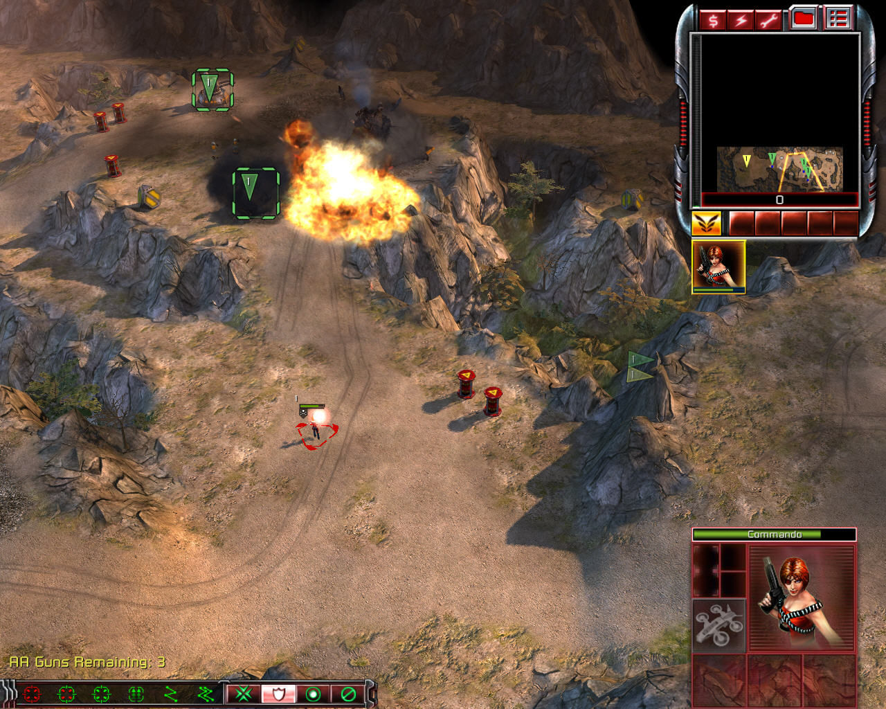 Command & Conquer 3: Tiberium Wars Windows You can shot at red barrels to eliminate the nearby buildings and units in a big explosion.