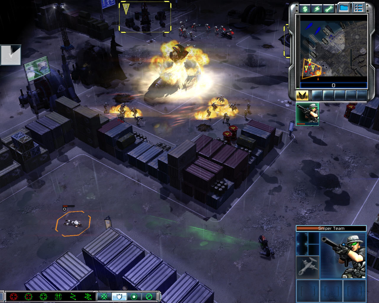 Command & Conquer 3: Tiberium Wars Windows The GDI Snipers can designate targets for long range bombardment from artillery pieces.