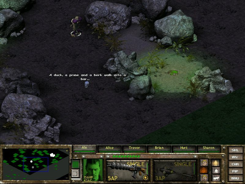 Fallout Tactics: Brotherhood of Steel  Windows Morte doing a little cameo