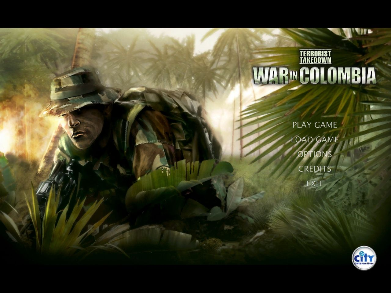 Terrorist Takedown: War in Colombia Windows Main Menu