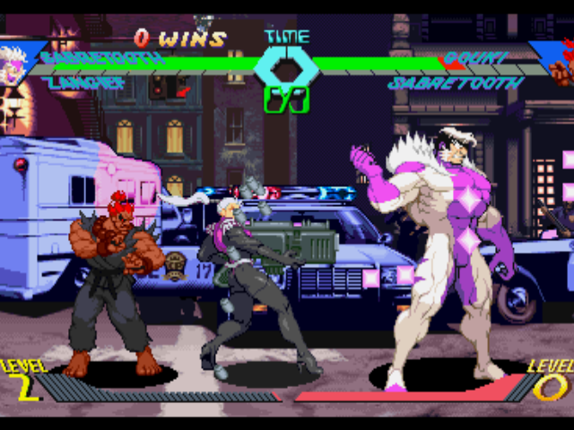 X-Men vs. Street Fighter PlayStation Due to Gouki's (Akuma's) jump-avoiding maneuver, Sabretooth's Hyper Combo wasn't so effective now...