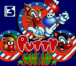 Putty Squad SNES Title screen