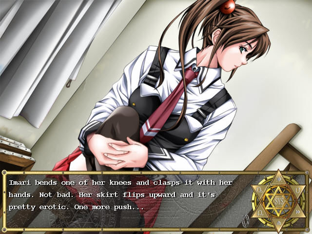 Bible Black: The Game Windows Imari strikes a pose for the art club...