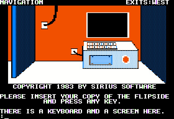 Gruds In Space Apple II First room