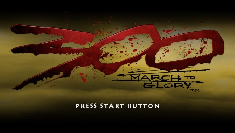 300: March to Glory PSP Title screen