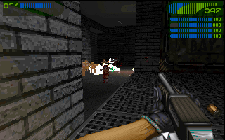 Last Rites DOS Just like in good old Doom, there're explosive barrels. The only interactive element in most of 3d shooters.