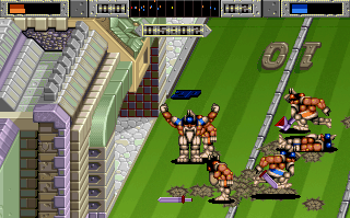 Brutal Sports Football Amiga Left field goal (AGA version)