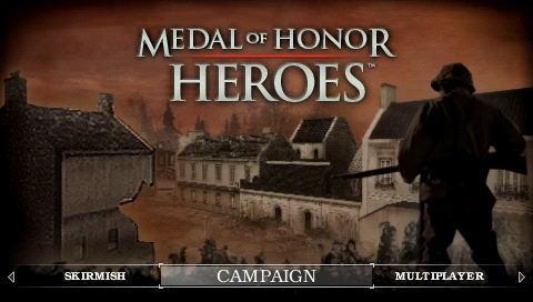 Medal of Honor: Heroes PSP Main menu