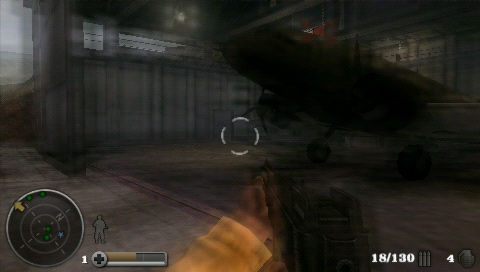 Medal of Honor: Heroes PSP When your soldier is hit by a blast the screen will blur for a short time.