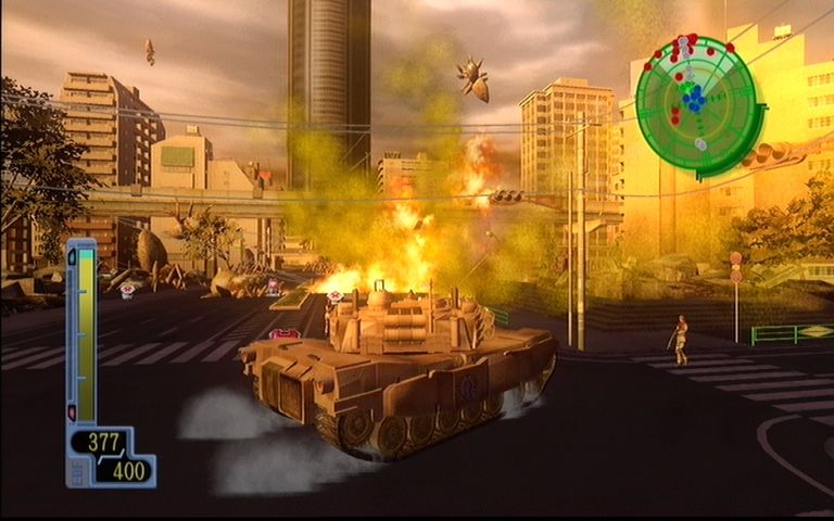 Earth Defense Force 2017 Xbox 360 Tanks have no trouble blowing enemies sky high.