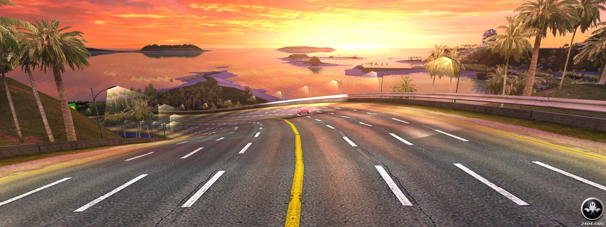 TrackMania Sunrise Windows Down into the sunset