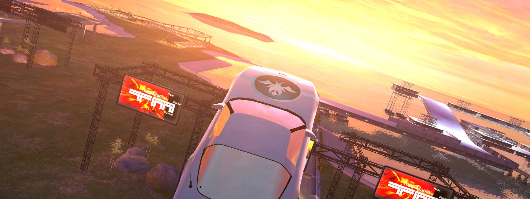 TrackMania Sunrise Windows A cool view of the track