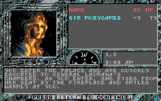 The Dark Queen of Krynn Amiga General Laurana