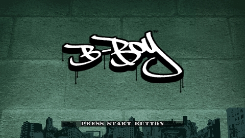 B-Boy PSP Title screen