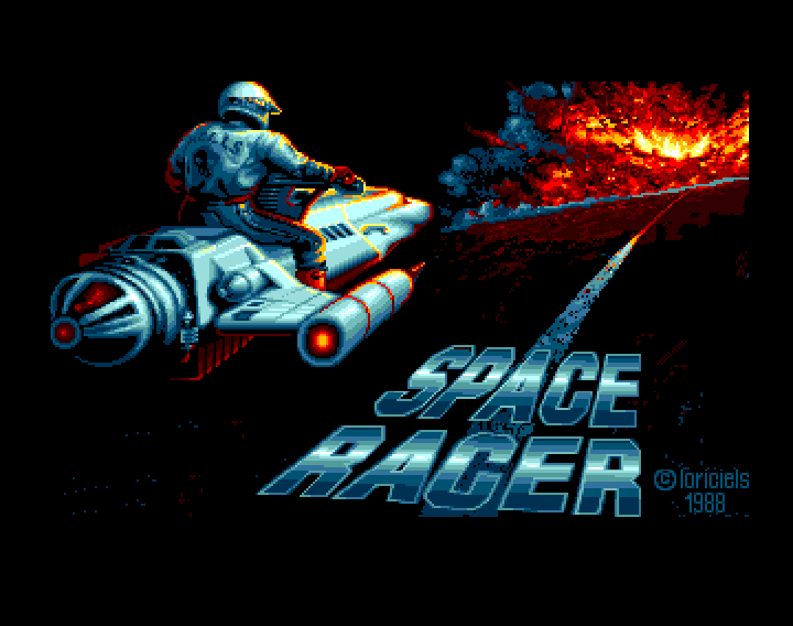 Space Racer Amiga Title screen