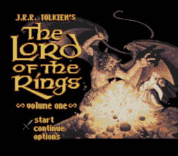 J.R.R. Tolkien's Lord of the Rings: Volume One SNES Title Screen