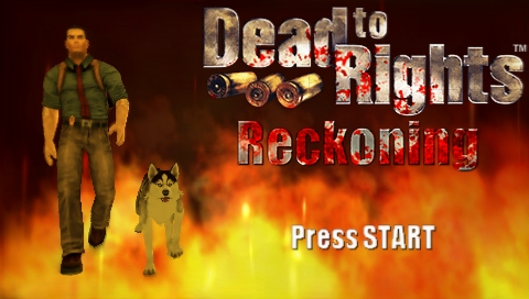 Dead to Rights: Reckoning PSP Title screen