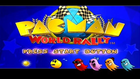 Pac-Man World Rally PSP Title screen
