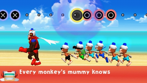 Ape Escape Academy PSP Running training in army style with a song