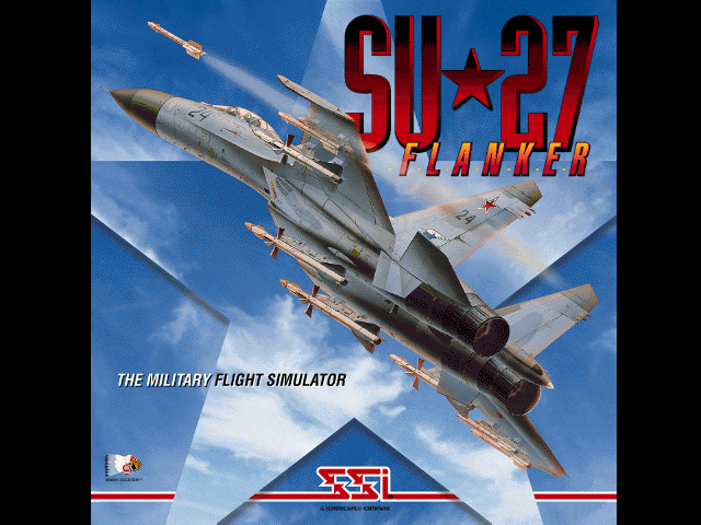 Su-27 Flanker DOS Loading screen