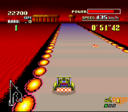 F-Zero SNES Fire Field: The most difficult track, with tight turns and other hazards.