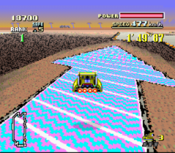 F-Zero SNES The big arrow shaped jump plate on Red Canyon II