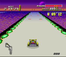 F-Zero SNES The short cut on Silence is covered with two rows of mines