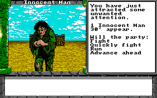 Dragon Wars Amiga Innocent man
