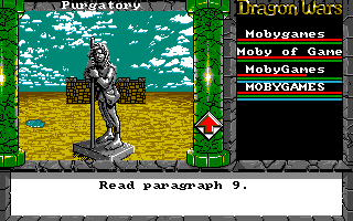 Dragon Wars Amiga Statue of Namtar