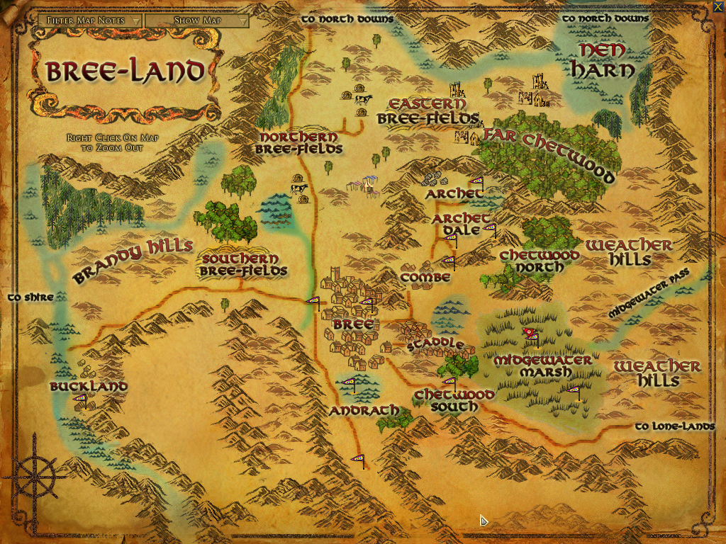 The lord of the rings online shadows of angmar screenshots for there are different maps in the game from an area map like this one to a city map and a world map as you explore more information becomes visible on the gumiabroncs Images