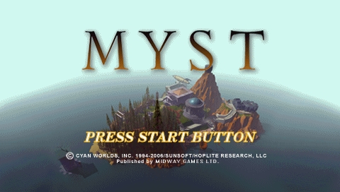 Myst PSP Title screen
