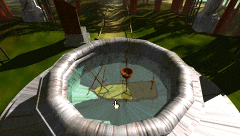 Myst PSP A well with sunken ship inside