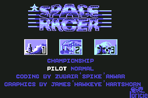 Space Racer Commodore 64 Select the level you want to play.