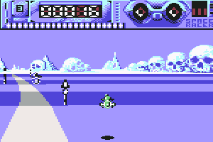Space Racer Commodore 64 You can move the machine higher in the sky.