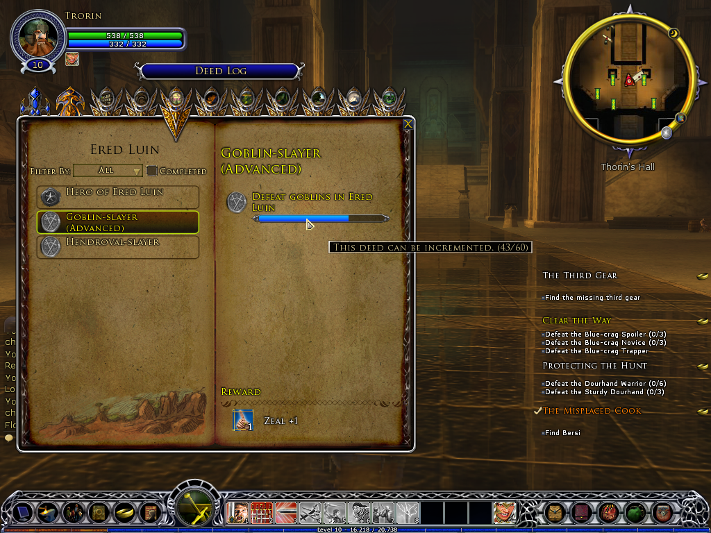 lord of the rings online deeds