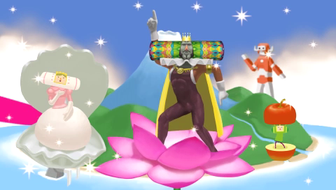 Me & My Katamari PSP Introduction: the King, Queen and Prince of all Cosmos