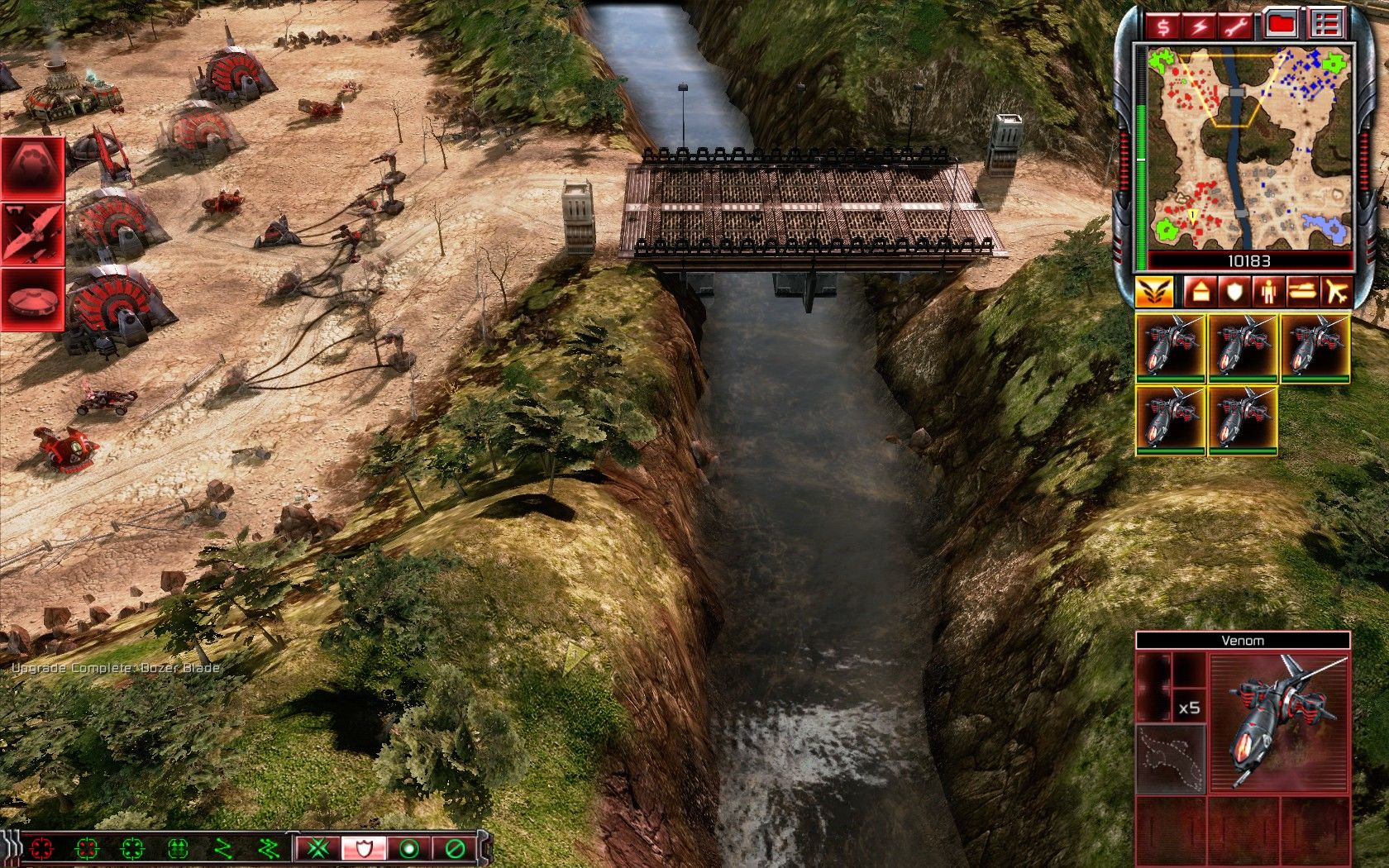 Command & Conquer 3: Tiberium Wars Windows Whoever dares to cross this bridge first.
