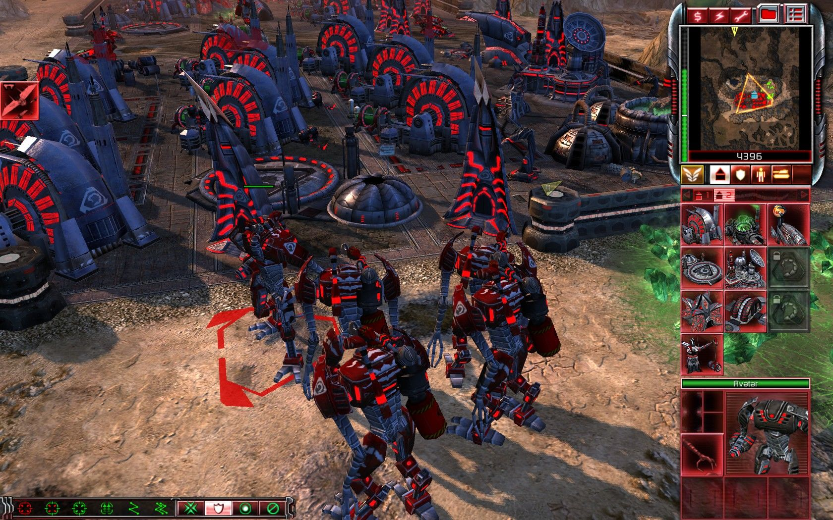 Command & Conquer 3: Tiberium Wars Windows Nod Avatars fully upgraded by destroying friendly units in the process.