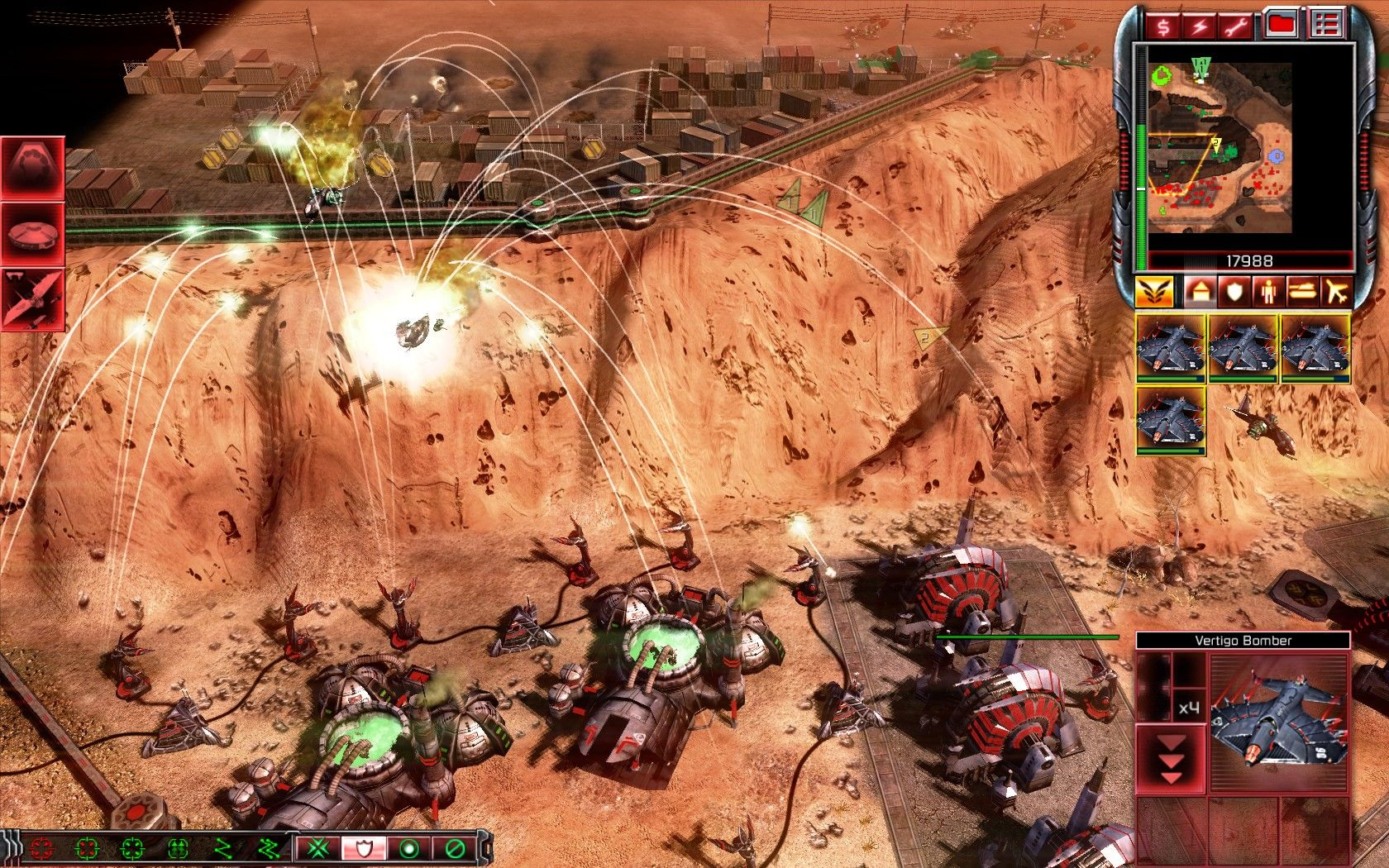 Command & Conquer 3: Tiberium Wars Windows Posting anti-air defenses behind the cliff. This surely surprised enemy Venom crafts and bombers.