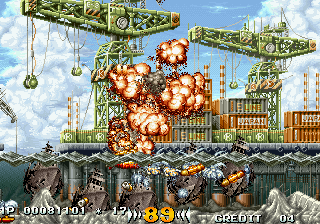 In the Hunt SEGA Saturn Looking at these screenshots makes it obvious that the game was made by the same people who made Metal Slug.
