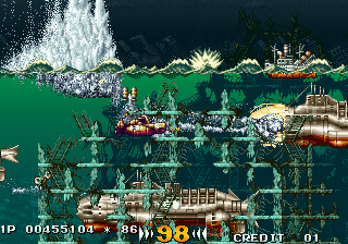 In the Hunt SEGA Saturn These larger submarines are a pain in the ass to destroy.