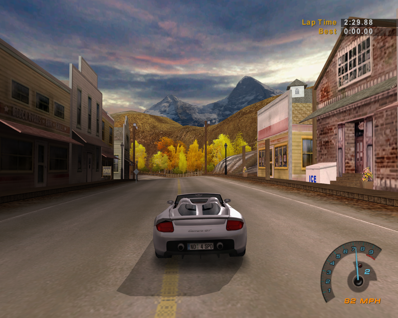 Another Staple Of A Need For Speed Gamethe Small Town To Drive Though With Gas Station That Dings When You Through It