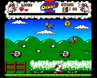 Giddy II: Hero in an Egg Shell Amiga Radioactive sheep