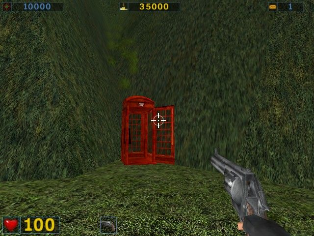 Serious Sam: The Second Encounter Windows Ah, a Secret Phone Booth(tm)