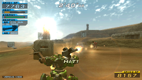 Armored Core: Formula Front - Extreme Battle PSP The red one has been hit.