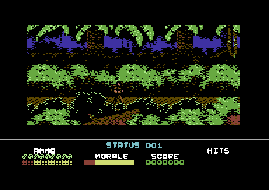 Platoon Commodore 64 Starting the game.