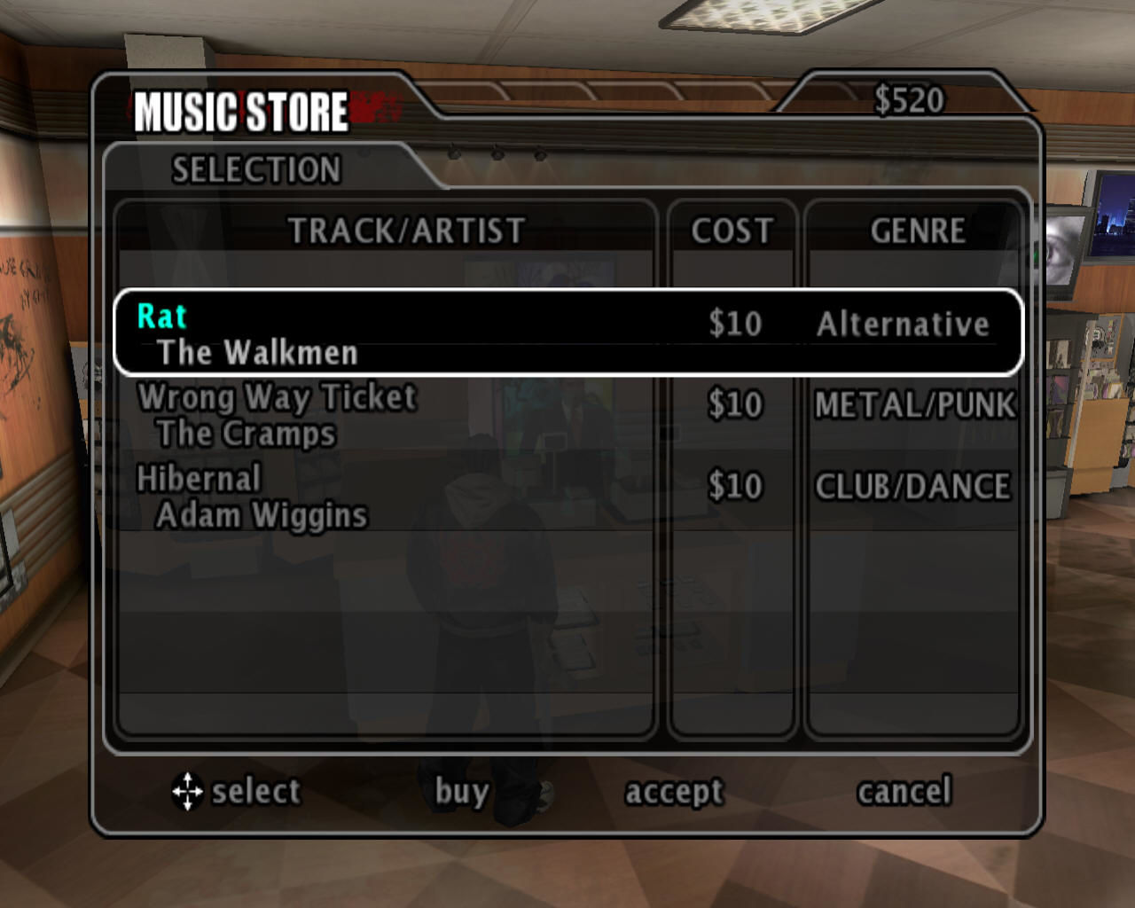 True Crime: New York City Windows A music shop is something novel for a GTA-clone.