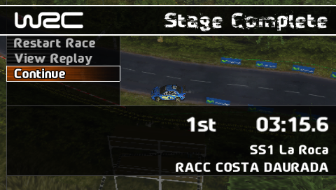 WRC PSP Stage Results