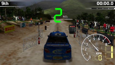 WRC PSP Count down before race